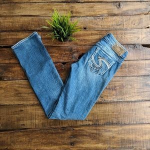 Silver Jeans Distressed Straight Leg Jeans